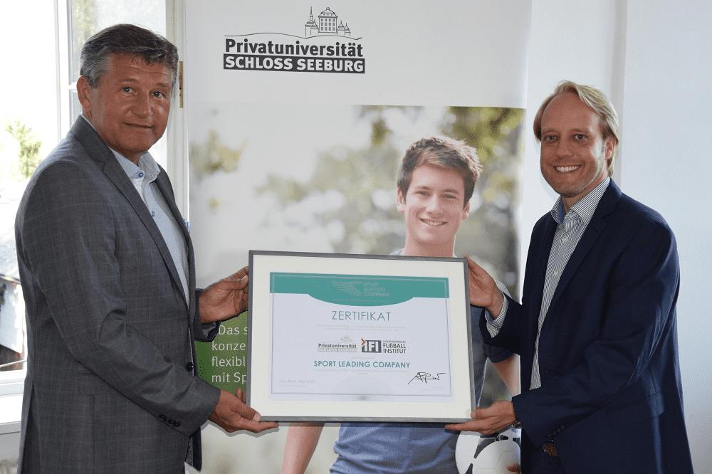 Privatuniversität Schloss Seeburg als Sport Leading Company rezertifiziert