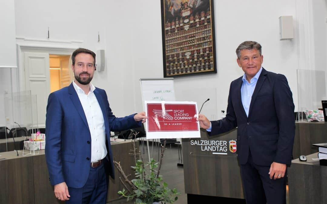 Salzburgs Landesrat Mag. Stefan Schnöll unterstützt Österreichs Sportgütesiegel