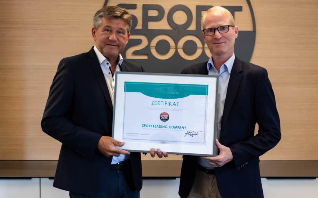 SPORT 2000 für zwei weitere Jahre als Sport Leading Company zertifiziert
